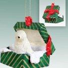 Komondor Green Gift Box Ornament