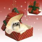 Pekingese Red Gift Box Ornament