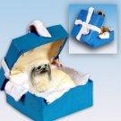 Pekingese Blue Gift Box Ornament