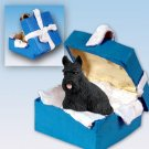 Scottish Terrier  Blue Gift Box Ornament