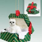 West Highland Terrier Green Gift Box Ornament