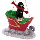 Saluki  Sleigh Ride Ornament