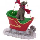 Weimaraner Sleigh Ride Ornament