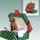 Vizsla Green Gift Box Ornament