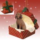 Vizsla Red Gift Box Ornament