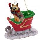 Silky Terrier  Sleigh Ride Ornament