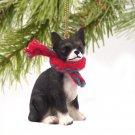 Chihuahua, Black & White Christmas Ornament