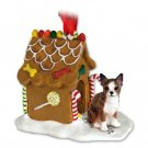 Chihuahua, Brindle & White Ginger Bread House