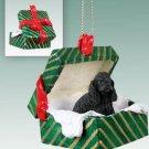 Cocker Spaniel, Black Green Gift Box Ornament