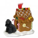 Cocker Spaniel, Black Ginger Bread House