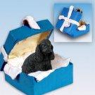 Cocker Spaniel, Black Blue Gift Box Ornament