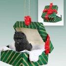 Chow, Black Green Gift Box Ornament