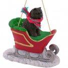 Chow, Black Sleigh Ride Ornament