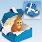 Chow, Red Blue Gift Box Ornament