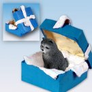 Chow, Blue, Blue Gift Box Ornament