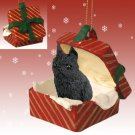 Brussels Griffon, Black Red Gift Box Ornament
