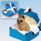 Brussels Griffon, Red Blue Gift Box Ornament