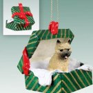 Cairn Terrier, Red Green Gift Box Ornament