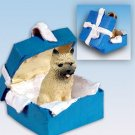 Cairn Terrier, Red Blue Gift Box Ornament