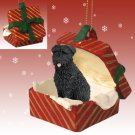 Bouvier, Uncropped Red Gift Box Ornament