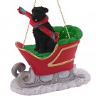 Bouvier, Uncropped Sleigh Ride Ornament