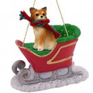 Chihuahua, Long Haired Sleigh Ride Ornament