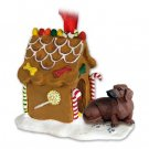 Dachshund, Red Ginger Bread House