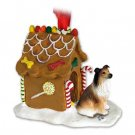 Collie, Sable Ginger Bread House