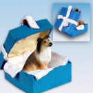 Collie, Sable Blue Gift Box Ornament
