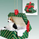 American Foxhound Green Gift Box Ornament