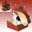 American Foxhound Red Gift Box Ornament