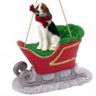 American Foxhound Sleigh Ride Ornament