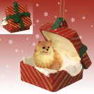 Pomeranian, Red, Red Gift Box Ornament