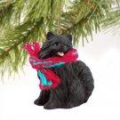 Pomeranian, Black  Christmas Ornament