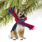 German Shepherd, Tan & Black Christmas Ornament