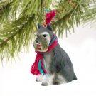 Schnauzer, Gray Christmas Ornament