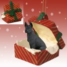 Great Dane, Black Red Gift Box Ornament
