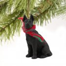 Great Dane, Black Christmas Ornament