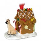 Great Dane, Fawn Ginger Bread House