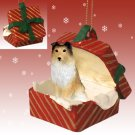 Sheltie, Sable Red Gift Box Ornament