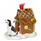 Springer Spaniel, Liver & White Ginger Bread House