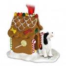 Springer Spaniel, Black & White Ginger Bread House