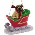 Shar Pei, Cream Sleigh Ride Ornament