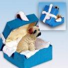 Shar Pei, Cream Blue Gift Box Ornament