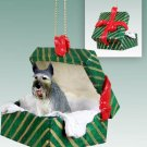 Schnauzer, Giant, Gray Green Gift Box Ornament