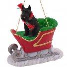 Schnauzer, Giant, Black Sleigh Ride Ornament