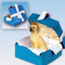 Great Dane, Fawn, Uncropped Blue Gift Box Ornament