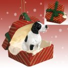 Pointer, Black & White Red Gift Box Ornament