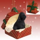 English Cocker Spaniel, Black Red Gift Box Ornament