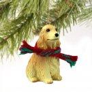 English Cocker Spaniel, Blonde Christmas Ornament